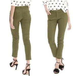 Banana Republic Sloan Olive Green Slim Ankle Pants